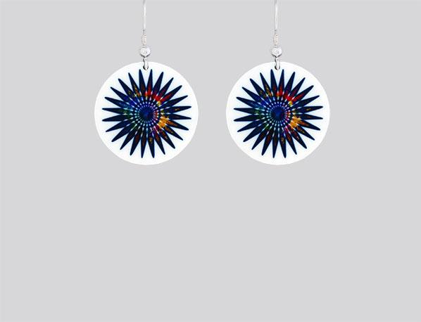 Aztec-Star-Blue-Earrings