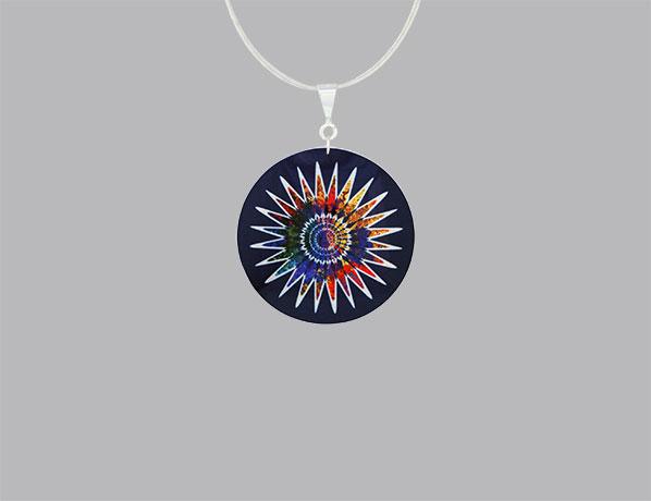 Aztec blue pendant