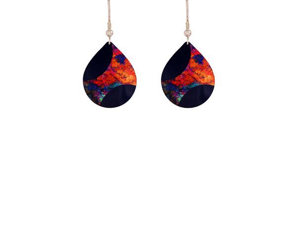 Starburst Orange earrings