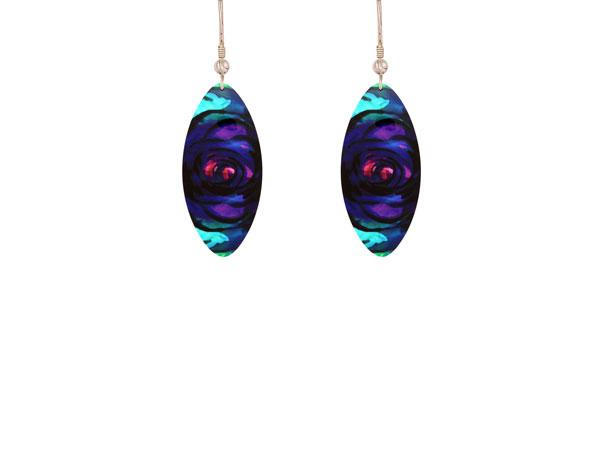 Rose Purple earrings