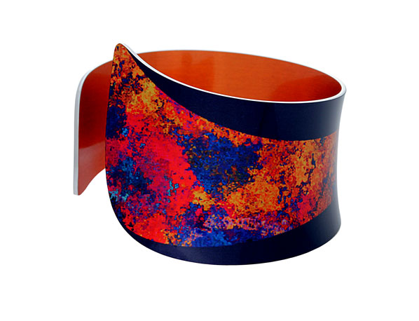 Starburst Orange bangle