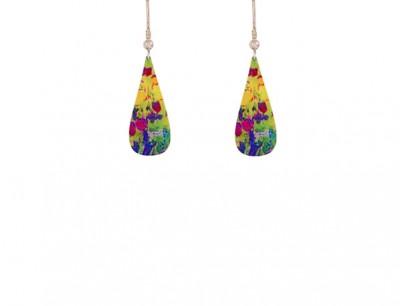 Water Lily Green Earrings