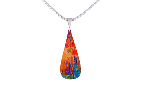 Water Lily Orange Pendant