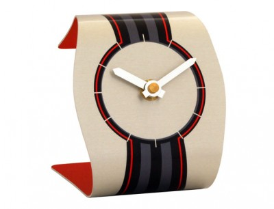 Ribbon Red Clock