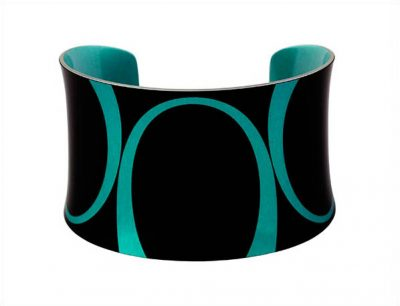 Bella Noir Blue Bangle