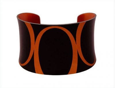 Bella Noir Large Orange Bangle