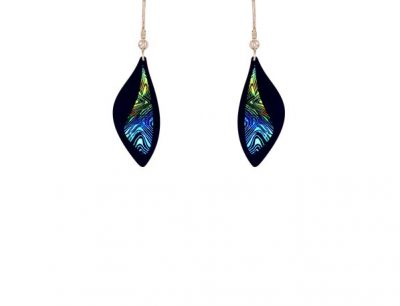 Contour Blue Earrings