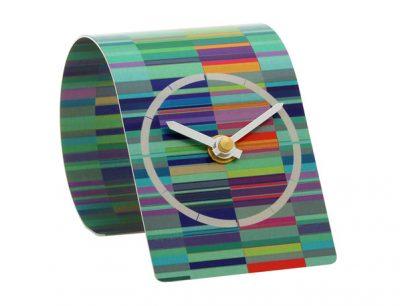 T2 Tessellate Blue Metallica Clock
