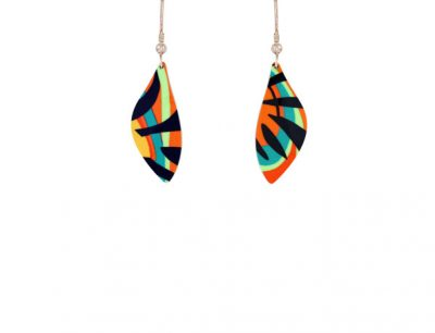 Tropical Orange Earrings