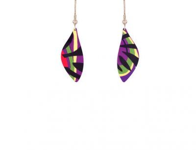 Tropical Purple Earrings
