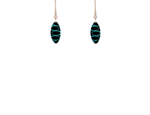 Bella Noir Blue aluminium earrings