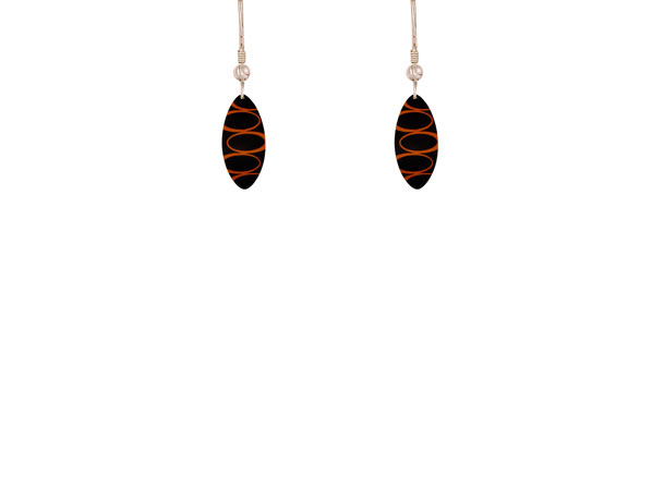 Bella Noir Orange earrings