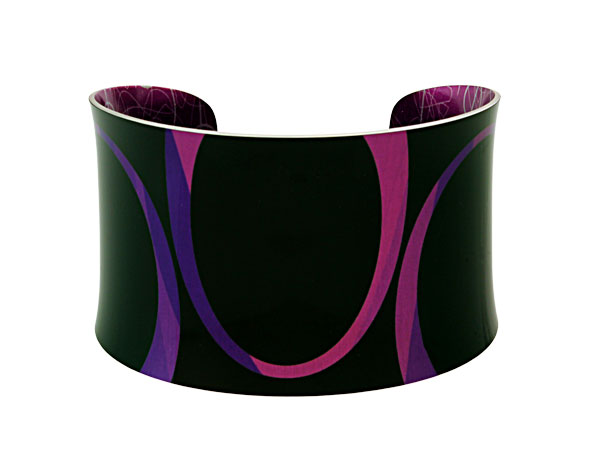 Bella Noir Purple bangle