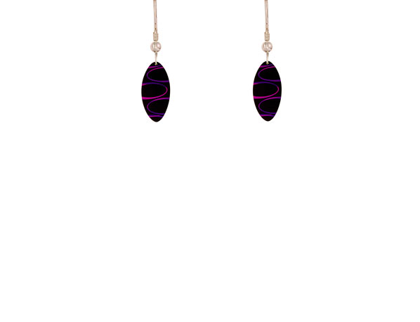 Bella Noir Purple earrings