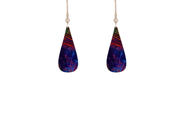 Weave Purple earrings