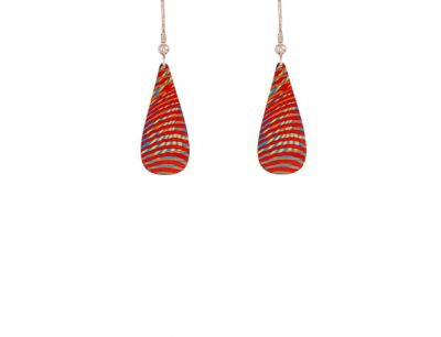 Weave Red Earrings