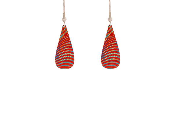 Weave Red Earrings