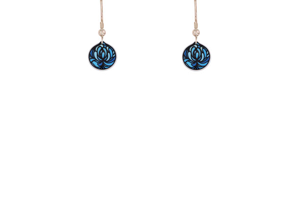 Blossom Blue Cup earrings