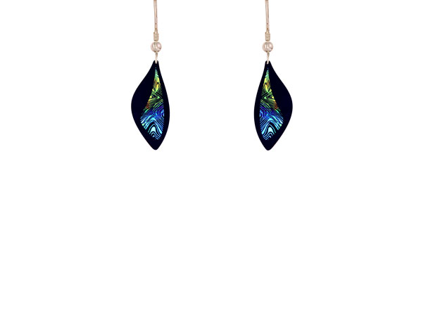 Contour Blue Small Earrings