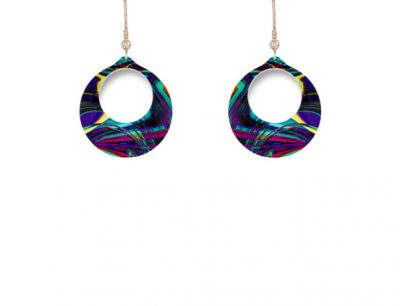 Carnival Purple Earrings
