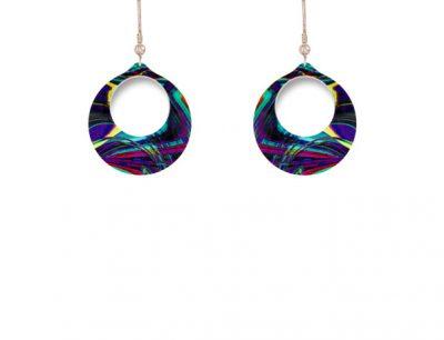 Carnival Purple Earrings