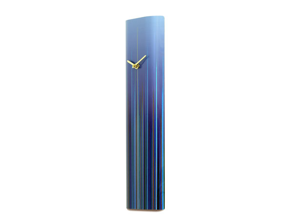 Flare Blue Wall Clock side