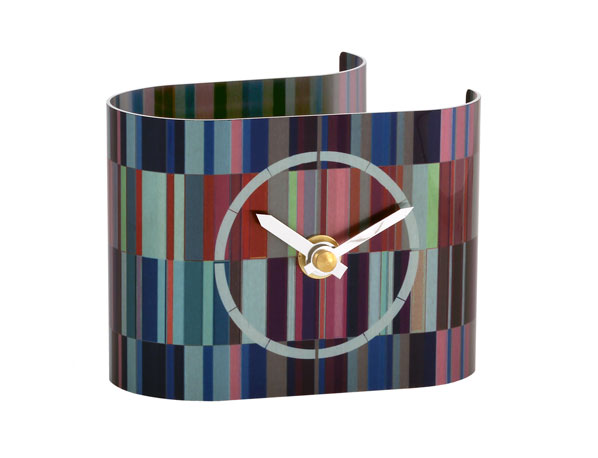 T5 Tessellate Purple desk clock