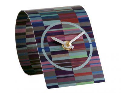 T2 Tessellate Purple Desk Clock
