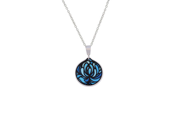Blossom Cup Blue Pendant