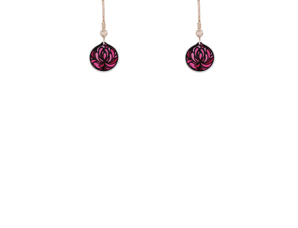 Blossom Cup pink earrings
