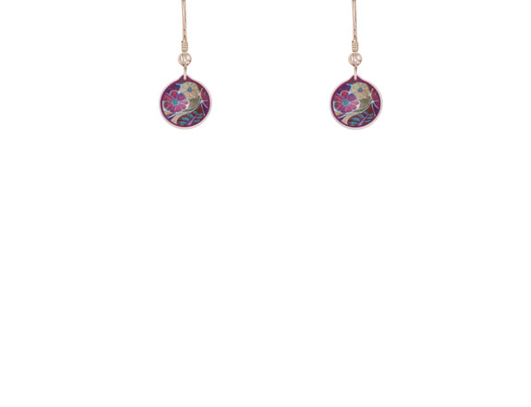Garden Cup pink earrings