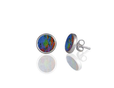 Water Lily Blue stud earrings
