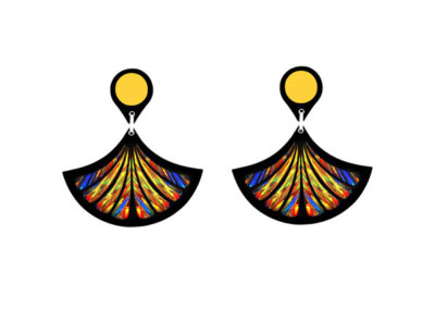 Fan Gold Earrings