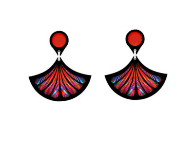 Fan Red earrings