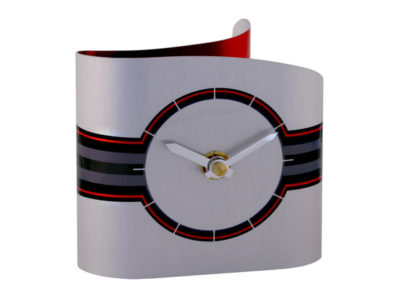 Ribbon Red Desk Clock