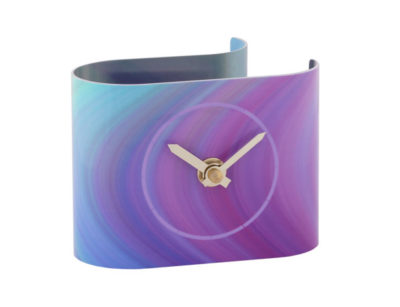 Strata Purple Desk Clock