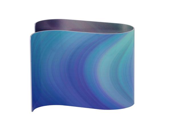 Strata Purple Desk Clock Rear