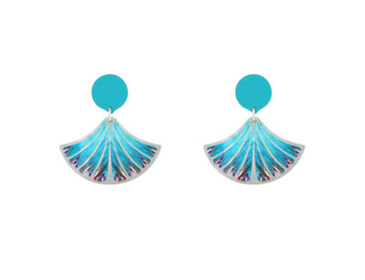 Feather Blue earrings