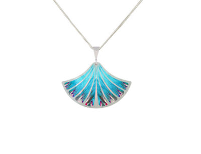 Feather blue pendant