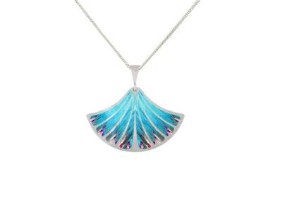 Feather blue pendant