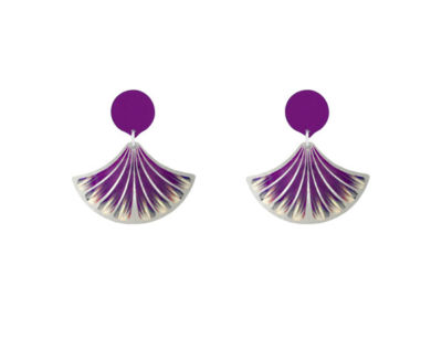 Feather Purple Earrings