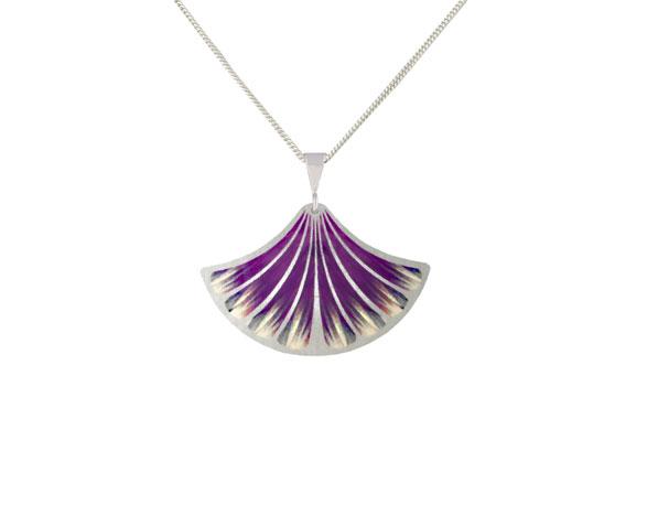Feather Purple pendant