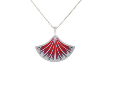 Feather Red pendant