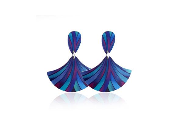 Ribbon-Blue-Earrings