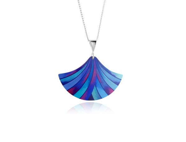 Ribbon-Blue-Pendant
