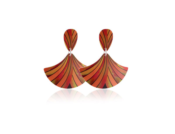 Ribbon-Orange-Earrings