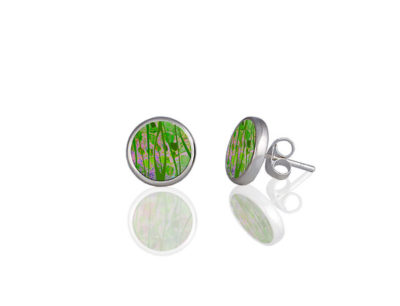 Honesty Green Stud Earrings
