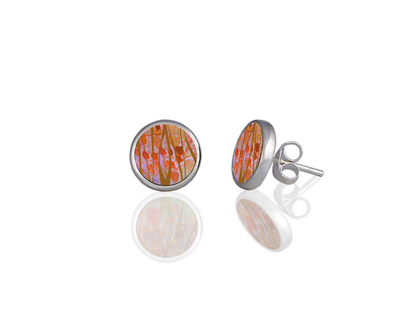 Honesty Orange Stud Earrings