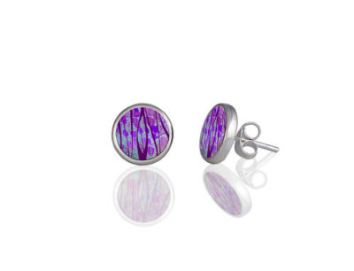 Honesty Purple Stud Earring