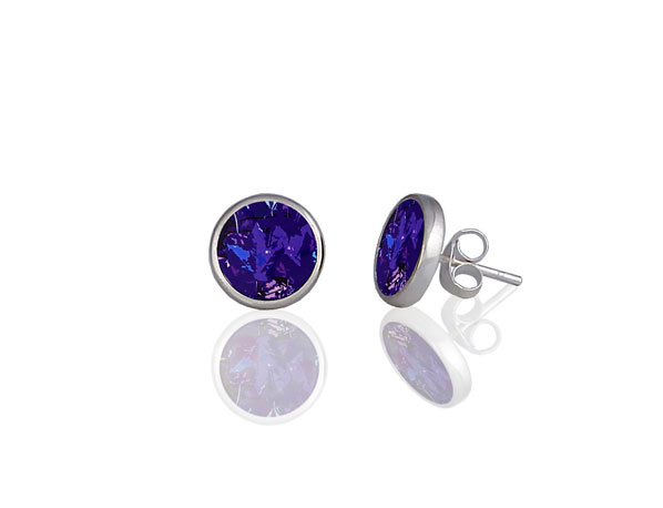 Pixalum Meadow Purple Stud Earrings